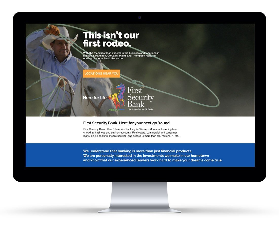 Landing Page: Agency / Client: First Security Bank