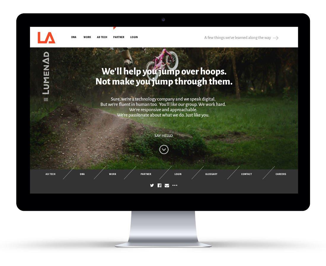 LumenAd User Interface: Agency / Client: LumenAd
