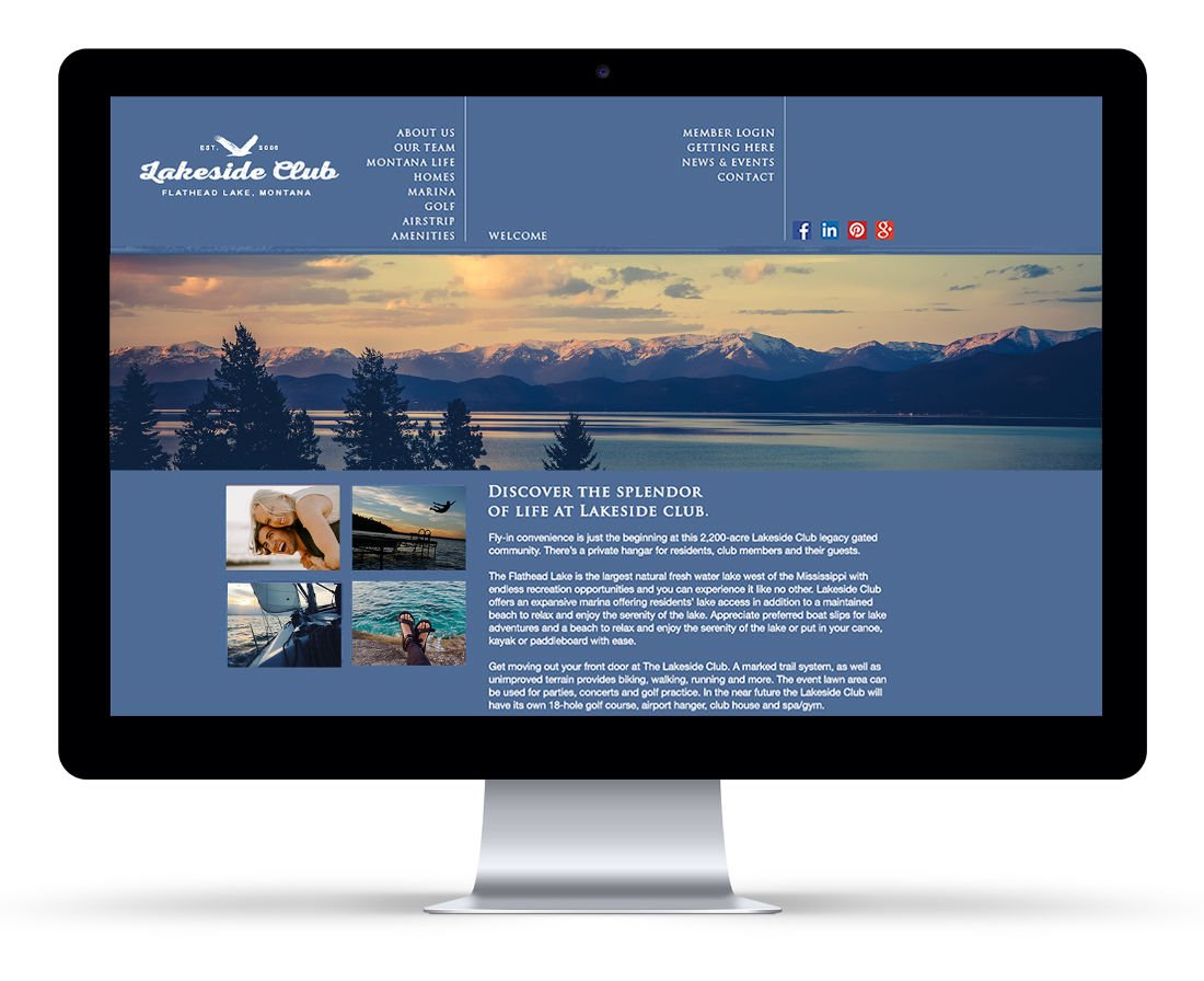 The Lakeside Club User Interface: Agency / Client: Spiker Communications