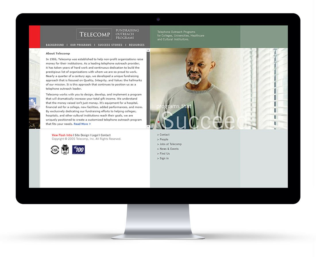 Telecomp User Interface: Agency / Client: Telecomp, Inc.