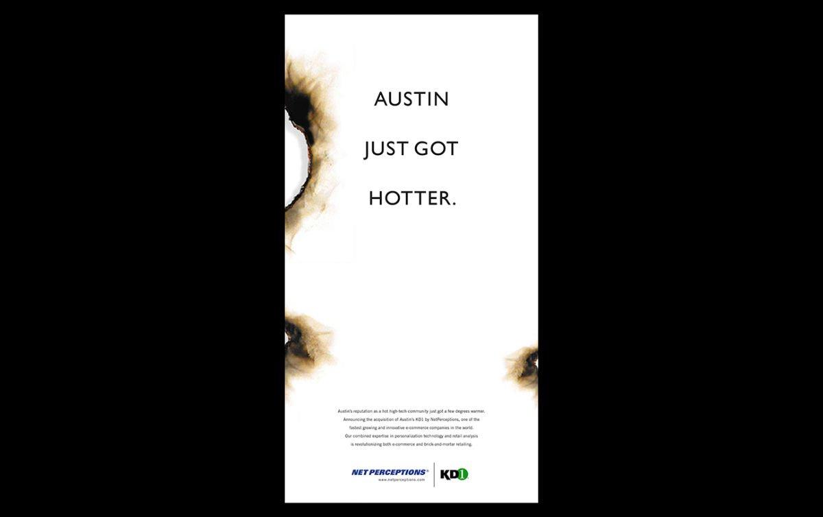 Print advertising: Agency / Client: BlackWing Creative: KD1-NetPerceptions