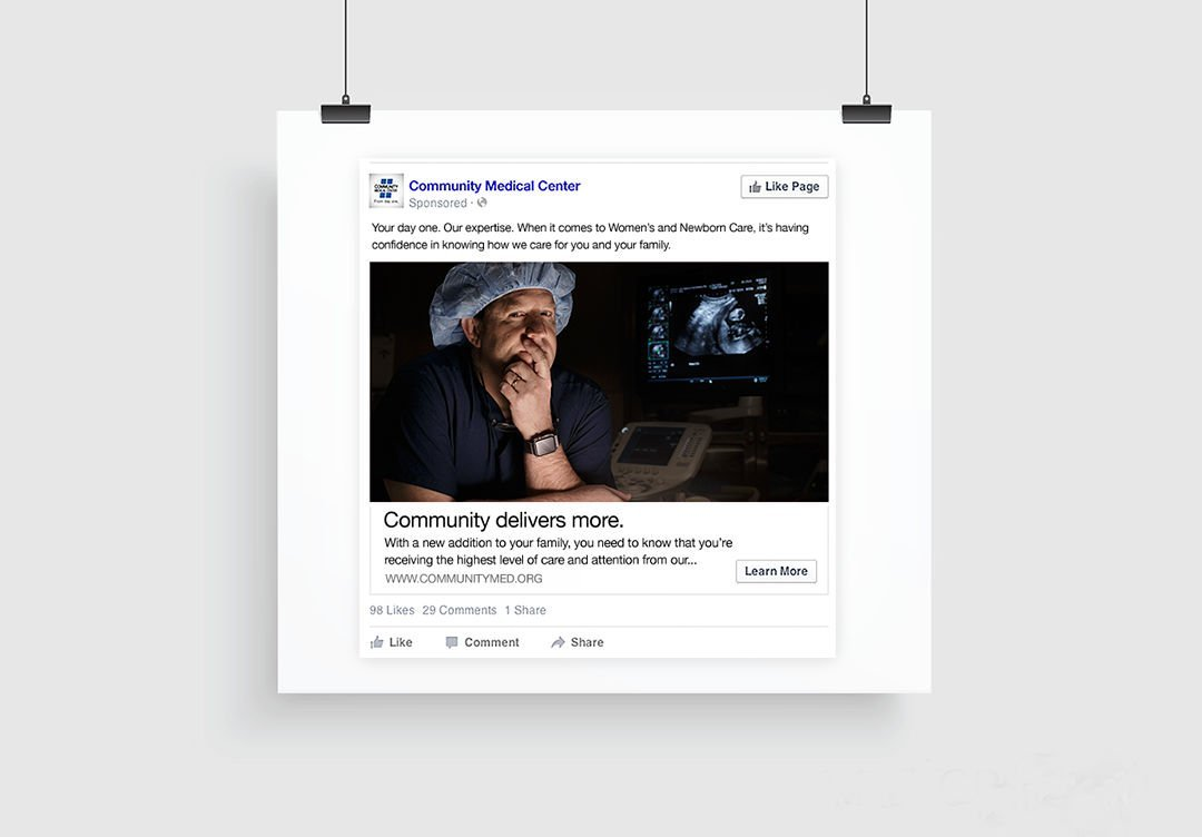 Facebook advertising: Agency / Client: First Security Bank