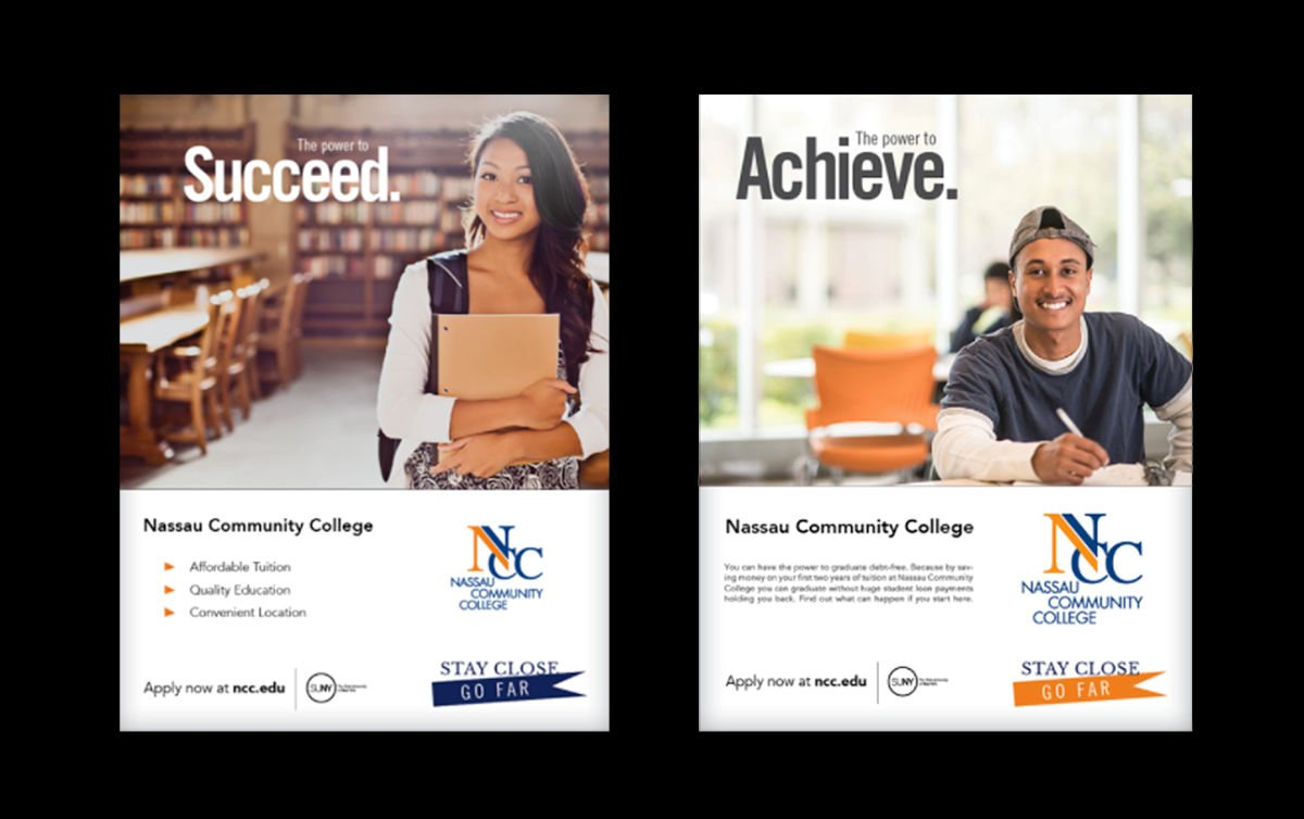 Print advertising: Agency / Client: Furman Roth, Nassau Community College