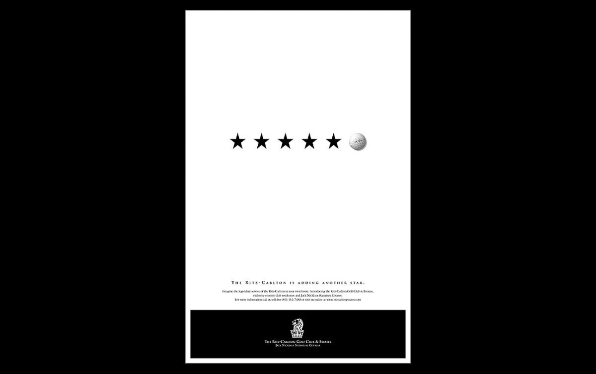 Print advertising: Agency / Client: Spiker Communications: The Ritz Carlton